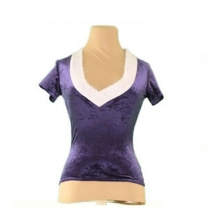 Emporio Armani Tops Blouses Purple Grey Woman Authentic Used L2332