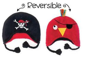 FlapjackKids Reversable Cosy Hats Pirate to Parrot age 3 to 8 years