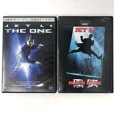 Jet Li Dvd Lot of 2: The One, Black Mask Hero Martial Arts Movies Very Good