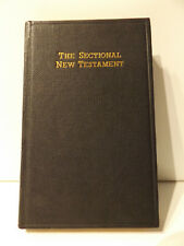 c1961 The SECTIONAL New Testament (DAILY PORTION EDITION) Pocket Size BIBLE