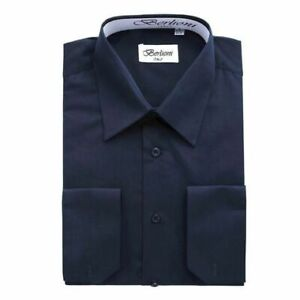 Men's Dress Shirt Long Sleeve - Navy