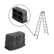 2Pcs Black Rubber Grip Feet Non-Slip Ladder Foot Mat Cushion Sole Accessory DY