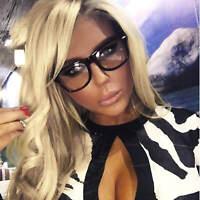 Clear Lens Retro Eyeglasses Women Fashion Square Plastic Frame Glasses UV 400