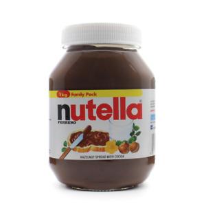 Nutella®️ Chocolate Cocoa Hazelnut Spread HUGE 1KG Family Pack Glass Jar 🍫