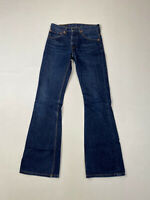 LEVI'S 516 BOOTCUT FLARE Jeans - W28 L32 - Navy - Great Condition - Men's