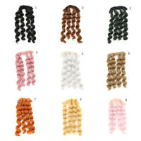 15cm x 100cmnatural color curly doll wigs hair DIY for 1/3 1/4 1/6 BJDEe OAZY