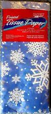 """New 10 pks Tissue Paper """"Snowflake"""" 5 sheets per pkg 30""""x18"""" ea Total 50 sheets"""