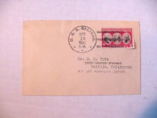 Classic US Naval Cover ~  USS Salinas AO-19 ~  April 19, 1932  TO: Vallejo, CA