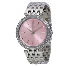 Michael Kors Stainless Steel Band Silver Case Wristwatches