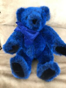 """16"""" Blue Without You VERMONT TEDDY BEAR Jointed Plush Stuffed Animal"""