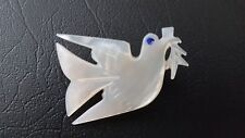Mother of pearl dove pin