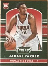 2014-15 JABARI PARKER PANINI THREADS LEATHER ROOKIE CARD BUCKS RARE!