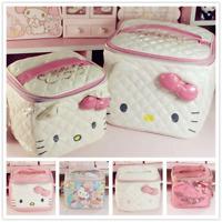 Hello Kitty Cosmetic Makeup PU Storage Holder Travel Bag High Quality -FREE SHIP