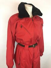 Obermeyer Chamonix Faux Fur Collar Ski Snowsuit / Red / Women's Size 10