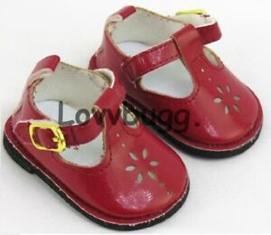 Red T Strap Flower Mary Janes for 18 inch Doll Shoes American Girl TRU US LOVV🐞