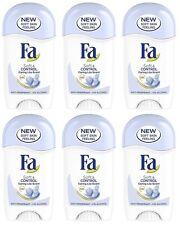 6x Fa Soft & Control Care Lila Scent Anti-perspirant Deodorant Solid Stick Women