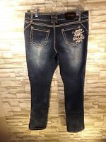 ED HARDY by Christian Audigier SIZE 13/14  Straight Leg Jean Love Kills Slowly