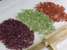 30Ct Mixed Lot Natural Rough Spessartite Garnet,Peridot,Rhodolite Gemstone