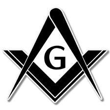 Masonic Compass Car Laptop Phone Vinyl Sticker  - SELECT SIZE