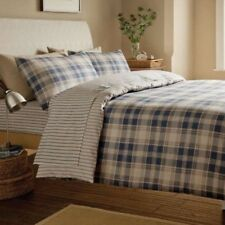 Catherine Lansfield Tartan Striped Single Fitted Sheet 100% Brushed Cotton HS1