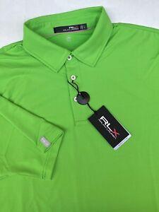 NWT RLX Ralph Lauren - The Biltmore Green Golf Shirt UPF 40+ L,XL