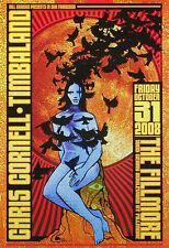 Chris Cornell Timbaland Fillmore San Francisco Poster Chuck Sperry - Soundgarden