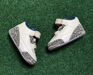 Nike Air Jordan 3 III Retro True Blue Soft Bottom Infant Shoes Sz 2C 315111-104