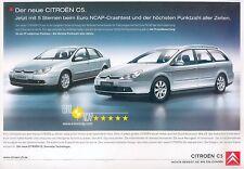 Citroën C5 C4 Prospekt 2005 brochure Citroen Autoprospekt Frankreich Auto PKWs