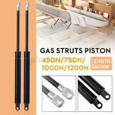 2x Replacement Car Gas Struts Piston For Ottoman Bed 450N 750N 1000N 1200N 360mm