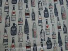 2 1/2 yards Dear Stella Designs Quilt Fabric, Various Beer and Ale Bottles