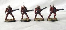4 Warhammer 40k Eldar Guardians Custom Painted by Pizzazz