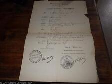 1871.Laissez passer pour Pierre Zaccone (français et allemand) (Commune Paris).