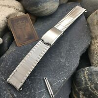 "5/8"" 16mm Stainless Steel 1960s New Old Stock Vintage Watch Band nos"
