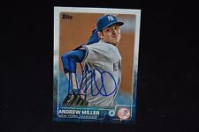 ANDREW MILLER 2015 TOPPS SIGNED BASEBALL CARD #US260 AUTO INDIANS YANKEE