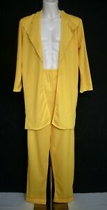 Adult Yellow Costume The Mask Fancy Dress Gangster Suit 90's Mr Sunshine Med