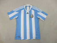 Adidas Argentina Soccer Jersey Adult Large Blue White Futbol Football Mens B74*