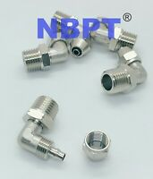 1/4 Tube OD-1/8 NPT Air Tube Fitting For Air Pipe Quick Twist Lock Connector, 5