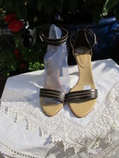 luxe new Bruno Magli brown ankle strap LEATHER heels shoes uk4.5 37.5 bnib £495