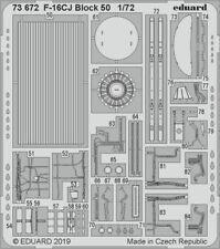 Eduard 1/72 Lockheed-Martin F-16CJ Block 50 Detailing Set # 73672