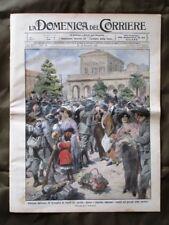 La Domenica del Corriere 13 Dicembre 1914 Bersaglieri Napoli Argonne Guerra