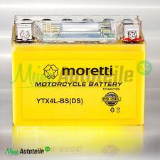 Original moretti erizos batería ytx4l-Bs + stromtester + DISPLAY cierre libre de mantenimiento Piaggio