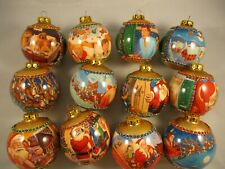 Rauch Twas The Night Before Christmas Ornaments 12 Balls - 1994