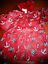 NWT Gymboree Stripes & Anchor pirate raincoat coat jacket boys 10 12 red  boys