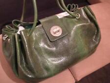 $8000 AUTH Tiffany & Co genuine green karung snake BRIDGET satchel bag handbag