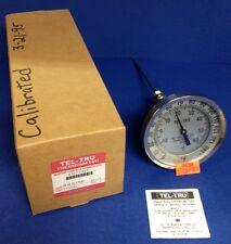 """Tel-Tru Industrial 9"""" Stem Thermometer Model AA575R ~ 0/140 FC ~ 1/2"""" NPT"""