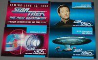 Star Trek Next Generation Trading Cards 4 Samples vintage trading cards