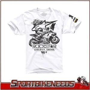 Alpinestars Lorenzo Rockstar Collection Aggressive White XL X-Large T-shirt NEW