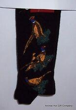 Pheasants on Black Mens/Womens Socks