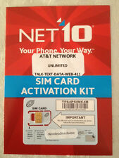 """5 X NET10 CUT TO MICRO SIM CARD UNLIMITED AT&T $35 MO """""""