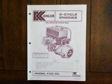 Kohler 2 Cycle Engines Model K340-2FA Parts Identification List